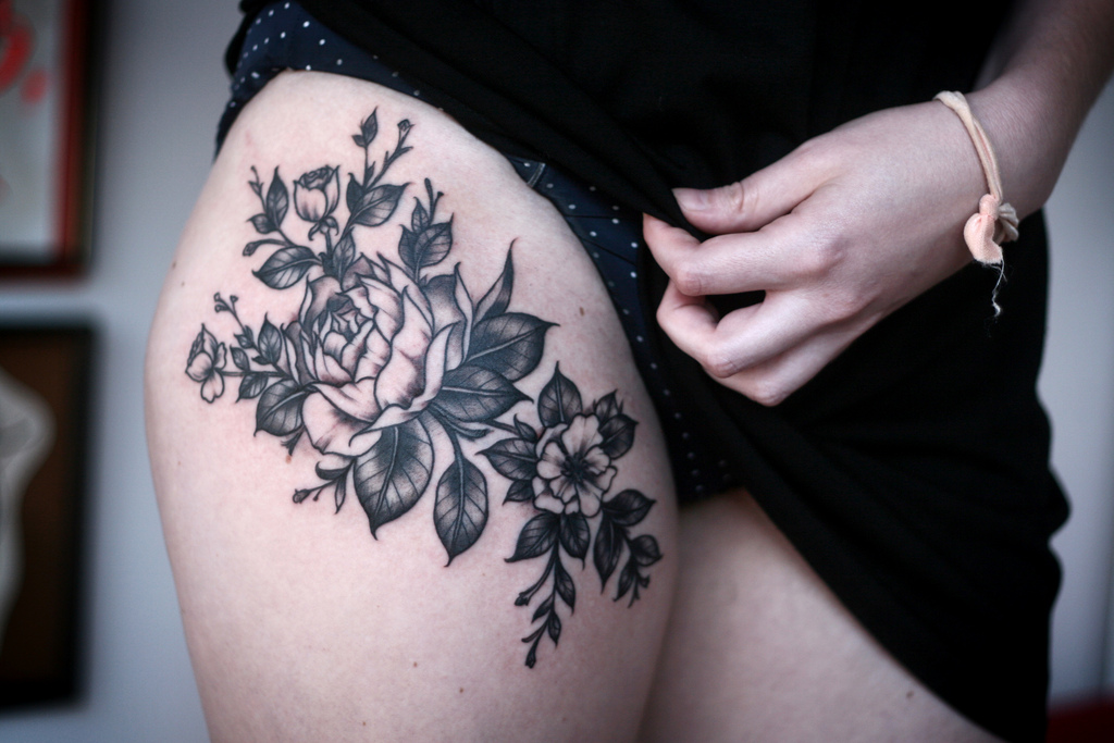 Black Rose Tattoo By Alice Carrier