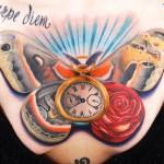 Andres Acosta carpe diem tattoo