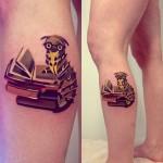 sasha unisex caterpillar tattoo