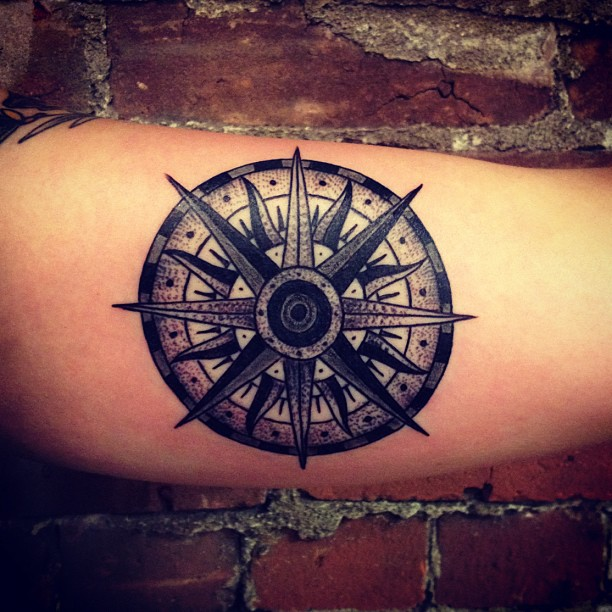 compass tattoo by matt houston design of tattoosdesign. Black Bedroom Furniture Sets. Home Design Ideas