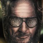 Andy Engel colorful portrait tattoo design