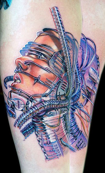 Cecil Porter unique portrait tattoo design