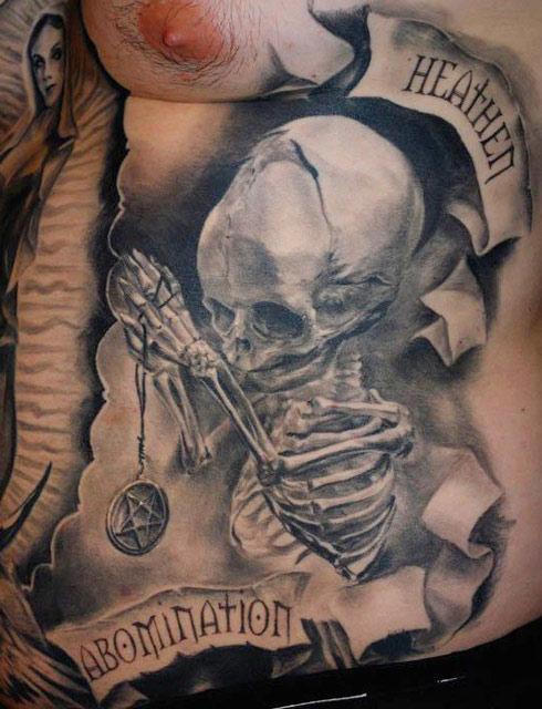 Carlos Torres dark tattoo design