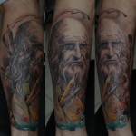 Da Vinci full sleeve by Dmitriy Samohin