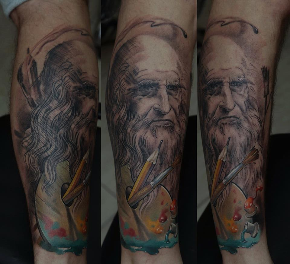 Da Vinci full sleeve by Dmitriy Samohin
