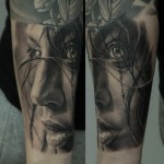 Dmitriy Samohin realistic full sleeve tattoo design