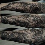 Dmitriy Samohin dragon full sleeve tattoo