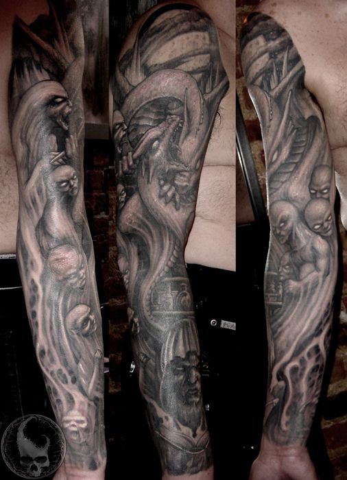 Full Sleeve Dragon Tattoo By Paul Booth Design Of Tattoosdesign Of