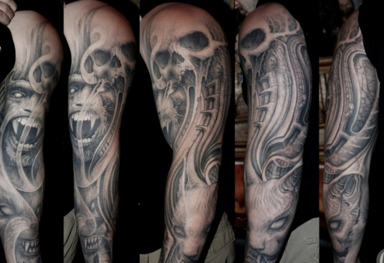 14 half and full sleeve tattoos of paul booth design of tattoosdesign of tattoos. Black Bedroom Furniture Sets. Home Design Ideas