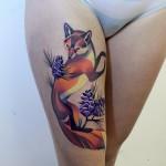 unique fox tattoo by Sasha Unisex