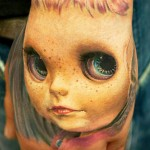 Andy Engel portrait tattoo on hand