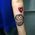 cute hedgehog tattoo by sasha unisex