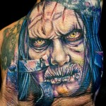 Cecil Porter horror portrait tattoo design