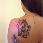 sasha unisex horse tattoo