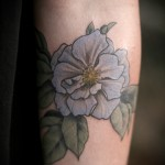Alice Carrier blue flower tattoo design