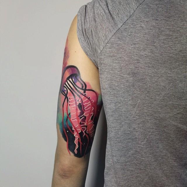 Jellyfish Tattoo By Sasha Unisex