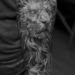 Lioness and cubs tattoo design of tattoosdesign of tattoos for Stomach tattoo pain level