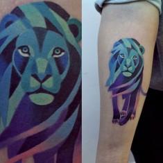 lion tattoo by sasha unisex