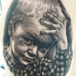 Andy Engel little boy portrait tattoo