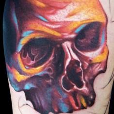 maximo lutz skull tattoo