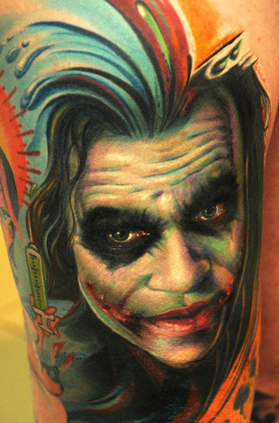 Andy Engel movie character portrait tattoo