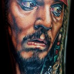 Cecil Porter movie character portrait tattoo