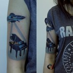creative piano tattoo by sasha unisex