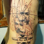 Xoil portrait and quote tattoo design