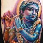 Cecil Porter colorful portrait tattoo
