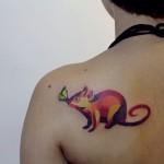 rat tattoo design by sasha unisex
