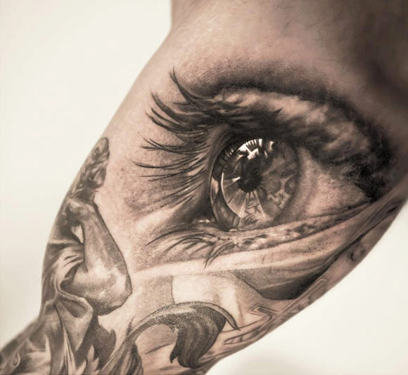 realistic eye tattoo by niki norberg design of tattoosdesign of tattoos. Black Bedroom Furniture Sets. Home Design Ideas