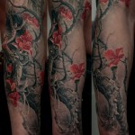 full sleeve in realistic design by Dmitriy Samohin