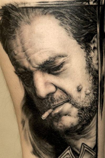 Andy Engel realistic portrait tattoo