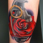 Andres Acosta realistic rose tattoo