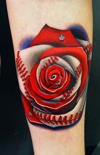 Red Rose Tattoo By Andres Acosta Design Of Tattoosdesign