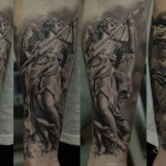 Dmitriy Samohin religious full sleeve tattoo design