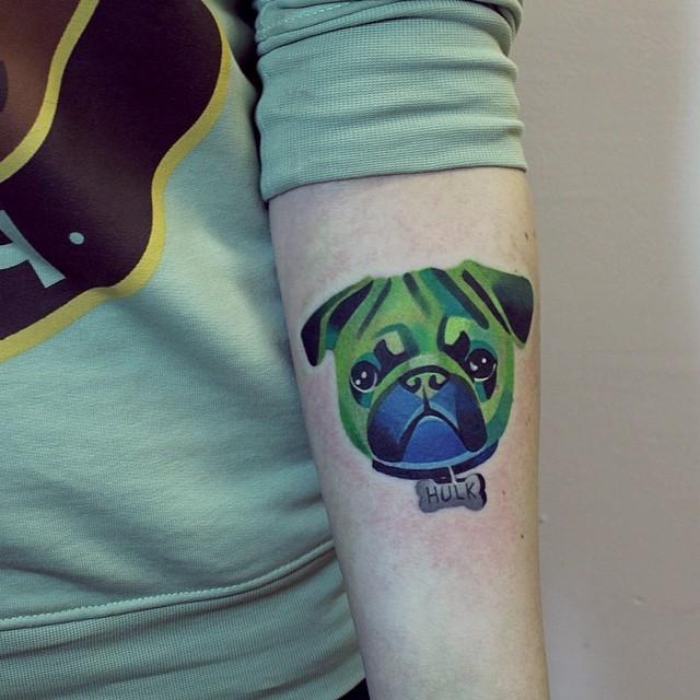 Sasha Unisex Dog Tattoo Design