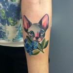 kitty tattoo by sasha unisex