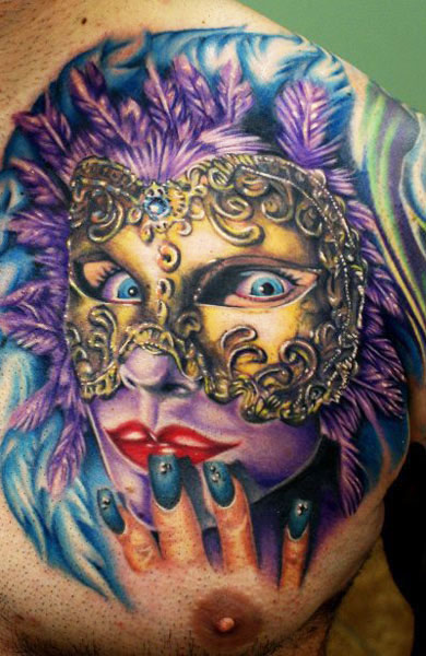 Cecil Porter scary portrait tattoo