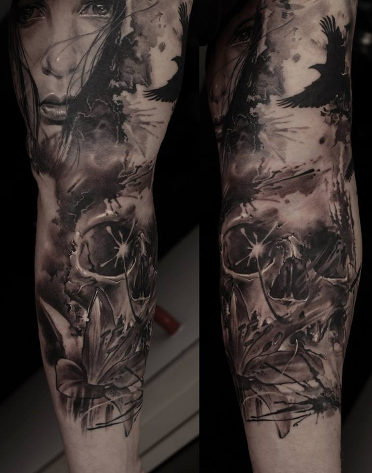 Dark Full Sleeve Tattoos Full Sleeve Tattoo Design