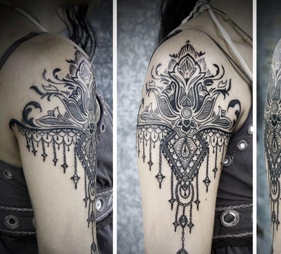 best half sleeve by David Hale - Design of TattoosDesign of Tattoos