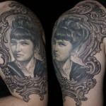 Csaba Kolozsvari black portrait tattoo design