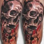 Robert Zyla black skull tattoo