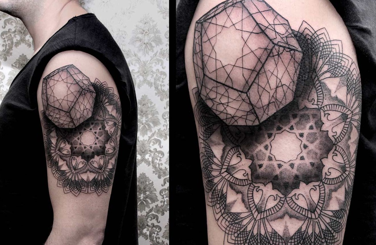 cool half sleeve by Chaim Machlev - Design of TattoosDesign of Tattoos