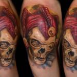 Csaba Kolozsvari creative skull tattoo design