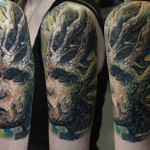 Csaba Kolozsvari dark full sleeve tattoo design
