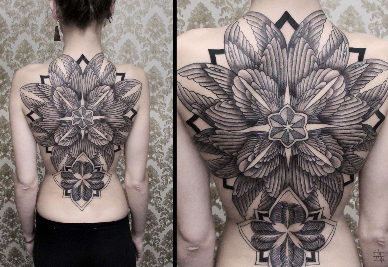 detailed full back tattoo by chaim machlev design of tattoosdesign