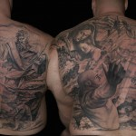 Csaba Kolozsvari black full back tattoo