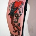 Cris Cleen parrott tattoo design