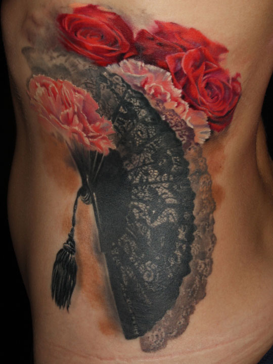 Realistic Flower Tattoo Designs: Realistic Flower Tattoo By Laura Juan